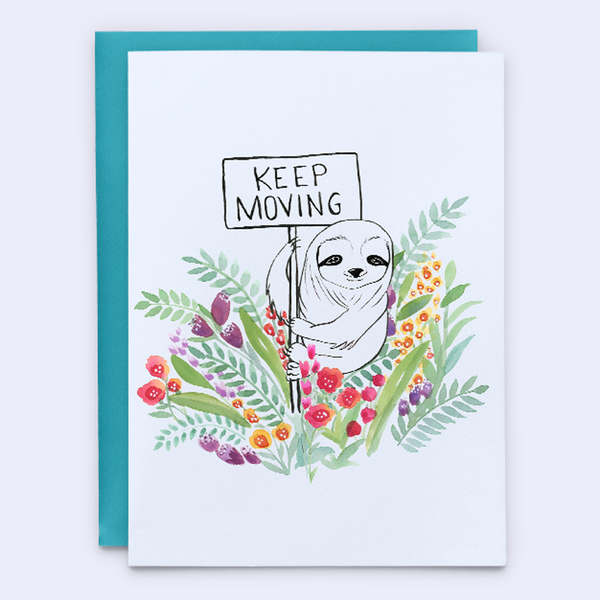 Keep Moving Retirement Card