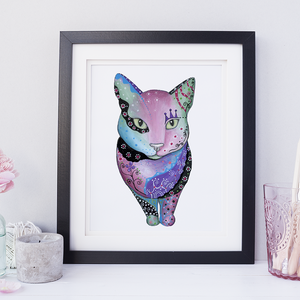 Colorful Cat Illustration