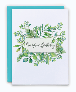 Green Leaves Grow Wild Birthday Card