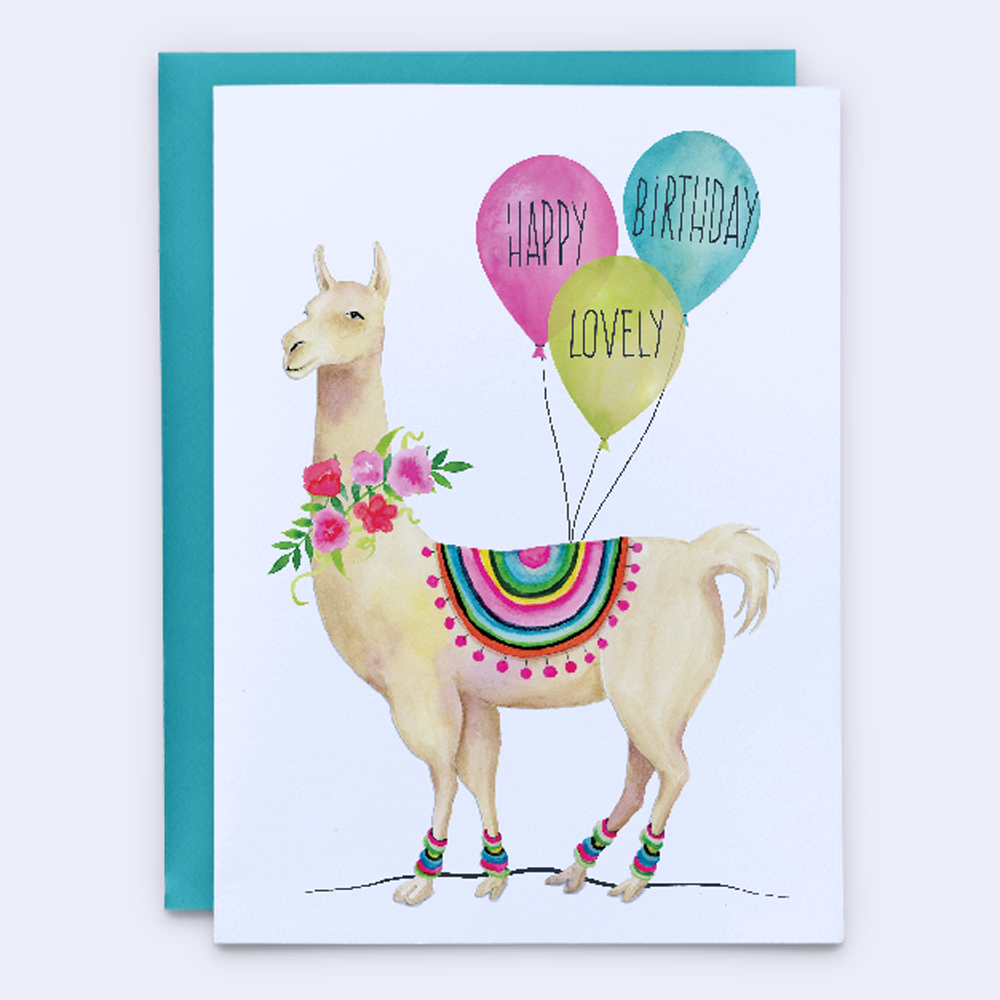 Lovely Llama Birthday Card