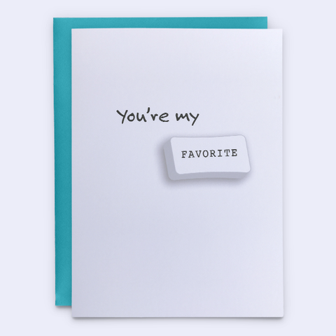 "Relationship Card ""You're My Favorite"""