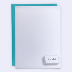 """Maybe"" in a Corner Relationship Card"