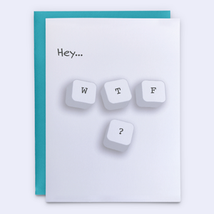 "Funny ""WTF"" Greeting Card"