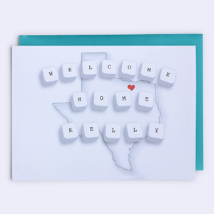 """Welcome Home"" Texas Greeting Card"