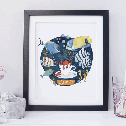 Tropical Fish Print Children's Room Art
