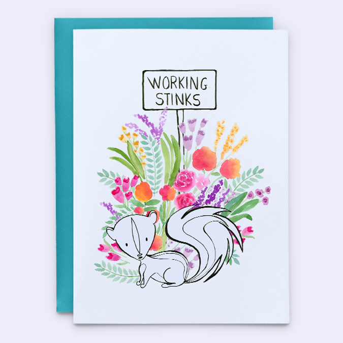 Working Stinks Retirement Card