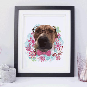 Colorful Bull Dog Art