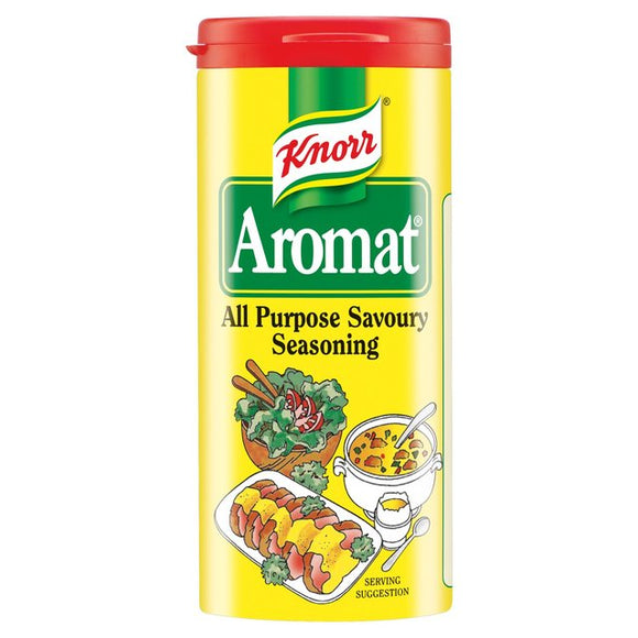 No artificial colors or preservatives. Aromat seasoning is a finely balanced blend of herbs and spices, carefully selected to bring out the best in your dish.
