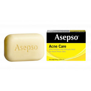 Asepso Acne Care with Sulphur & Salicylic Acid soap (80g/2.8oz, Yellow)