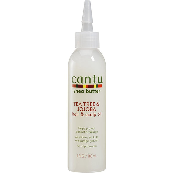 Cantu Shea Butter TeaTrea Jojoba  Hair & Scalp is made with pure shea butter, tea tree and jojoba oil to replace vital oils revealing stronger, healthier hair