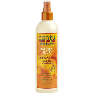 Cantu Shea Butter for Natural Hair Comeback Curl Next Day Curl Revitalizer will define, moisturize and restore your curls, leaving them smooth and full of life.