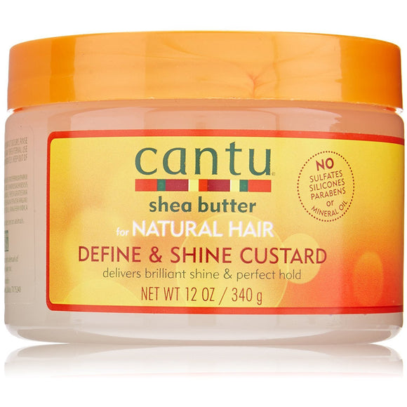 Cantu Shea Butter for Natural Hair Define & Shine Custard 340 g Cantu restores your real, authentic beauty. Embrace your curly, coily or wavy hair with Cantu.