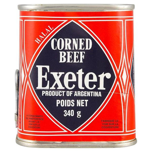 Exeter Halal Corned Beef (340g) is 100% corned beef. Well know brand that is highly regarded as the No1 by its loyal users. Very popular in west Africa and Asia
