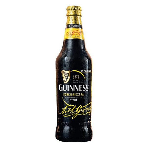 Guinness Nigeria's recipe includes locally sourced maize & sorghum following a government ban on importation of malted barley. It's uniquely bittersweet taste.