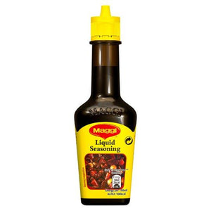 Maggi Liquid Seasoning is an aromatic liquid flavouring that is used as an ingredient to bring out the flavours of any dish.Simply add couple of drops of Maggi.