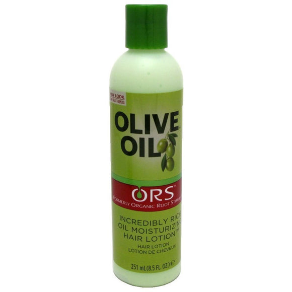 Organic Root Stimulator Olive Oil Moisturizing Hair Lotion has blended olive oil into a rich moisturizing lotion that conditions and protects from high heat.