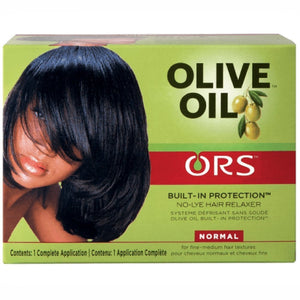 Organic Root Stimulator Olive Oil Relaxer built-in Protection while Straightening Long-lasting Shine. This utilizes Olive Oil to Protect the hair from Damage.