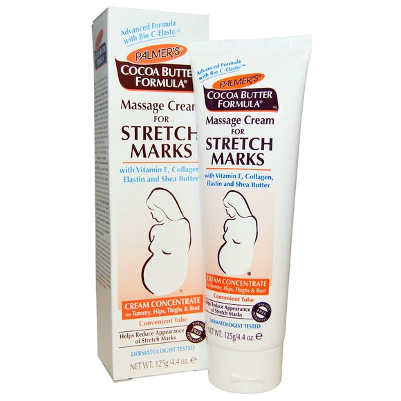 Palmer's Cocoa Butter Formula Massage Cream for Stretch Marks helps reduce the appearance of stretch marks with a unique blend of pure Cocoa Butter, Vitamin E.