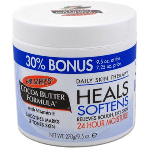 Palmers Cocoa Butter Jar with Vit. E 9.5oz the secret of cocoa butter is that it melts at just below body temperature - therefore the moment you apply it.