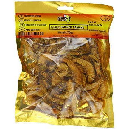 Whole Prawns are carefully selected finest quality prawns that are smoked and dried giving a great authentic taste In African cuisine and as flavor enhancers.