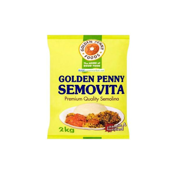 Semovita is Semolina product package in 10kg bags, 5 x 2kg bags ,10 x 1kg and 5kg bags. It is a delicious rich in vitamins and minerals. Well Known in Africa.