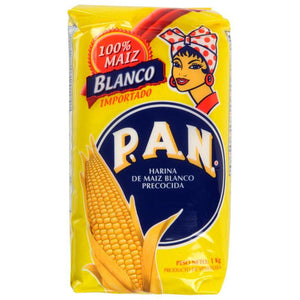 Harina PAN Pre-Cooked White Maize Meal - 1kg