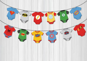 Baby Shower Deoration - Superhero Baby Shower Banners
