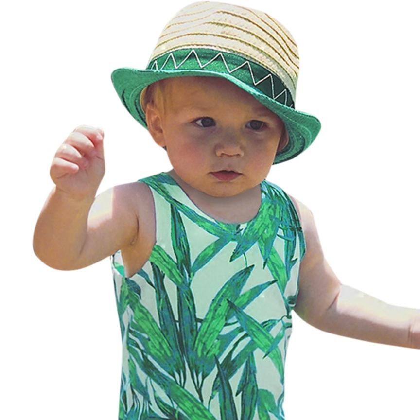 Bamboo Leaves - Baby Singlet