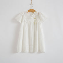 Embroidered Cotton Lace Dress
