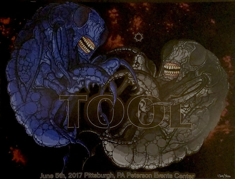 Tool (Signed by all 4 band members ) 2017 Pittsburgh, PA Poster by Adam Jones