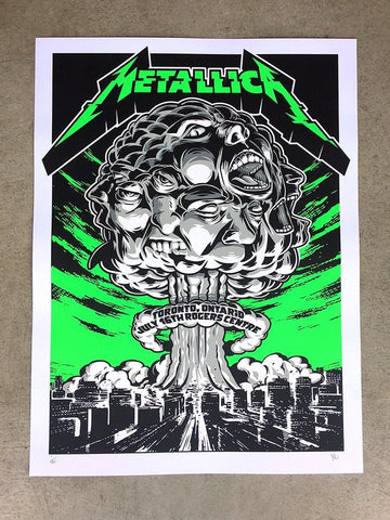 Metallica 2017 BC Place, Vancouver VIP Poster by Jermaine Rogers
