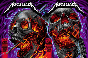 2 Metallica 2017 Ziggo Dome, Amsterdam, Netherlands Posters by Maxx242