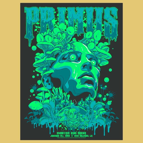 Primus 2017  Smoothie King, New Orleans, LA Poster by Vance Kelly
