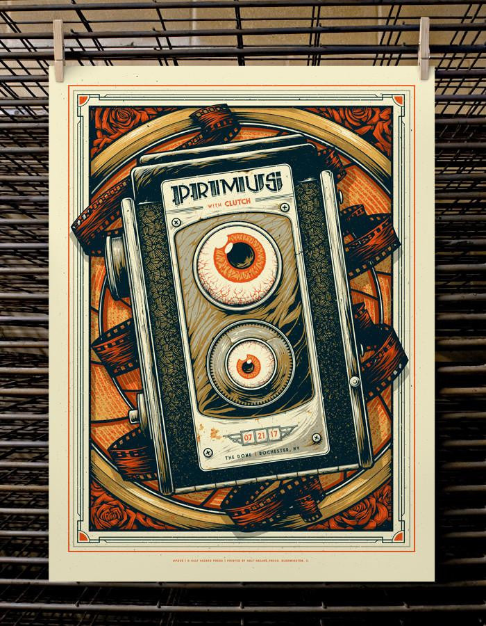 Primus with Clutch 2017  Rochester, NY Poster by Joel Hunter