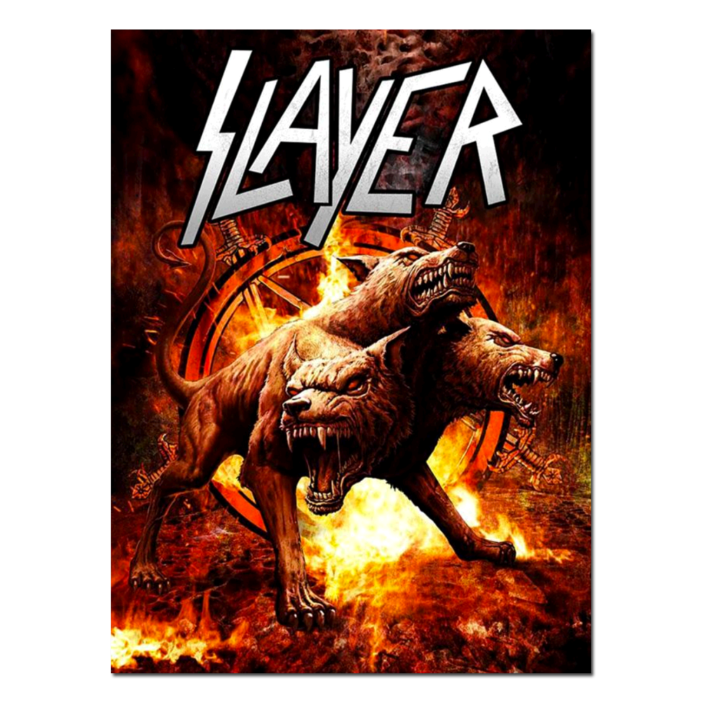 SLAYER 2017  Summer 2017 Cerberus Devil Dog Poster by Ron Ransom