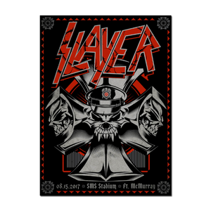 SLAYER 2017  SMS Stadium, Ft McMurray Propaganda Poster by Talent One