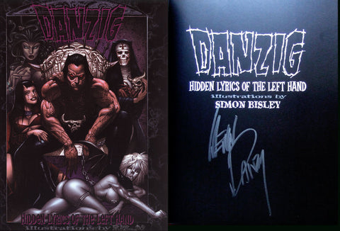 Signed Danzig Hidden Lyrics of the Left Hand Comic Book