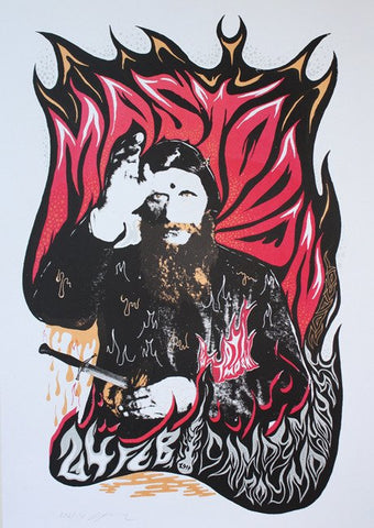 Mastodon - London 2010 - Silkscreen Poster by Mastodon and Totimoshi