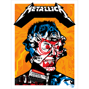 Metallica 2016 Webster Hall, New York, NY Poster - Regular Edition by Ames Bros