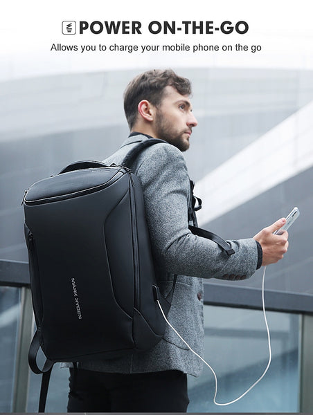 HTB1p6.9biLxK1Rjy0Ffq6zYdVXar 608514c8 cba1 41fc b383 7dd73e7da921 grande - Mark Ryden 2019 New Anti-thief Fashion Men Backpack Multifunctional Waterproof 15.6 inch Laptop Bag Man USB Charging Travel Bag