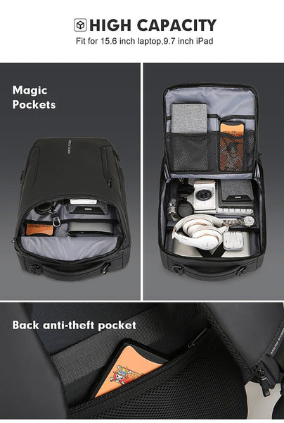 HTB1qFQ8bcnrK1RkHFrdq6xCoFXap grande - Mark Ryden 2019 New Anti-thief Fashion Men Backpack Multifunctional Waterproof 15.6 inch Laptop Bag Man USB Charging Travel Bag