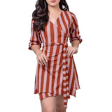 OVERLAP WRAP DRESS