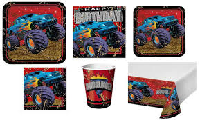 Mudslinger and Blaze Monster Truck Party Supplies and Balloons