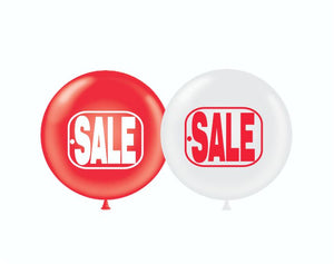 "Balloons Jumbo Up to 24"" Latex: Various Colors & Designs (Individual Balloon Filled with Helium)"