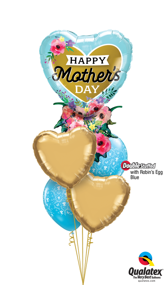 Happy Mother's Day Deluxe Balloon Bouquet includes a 34
