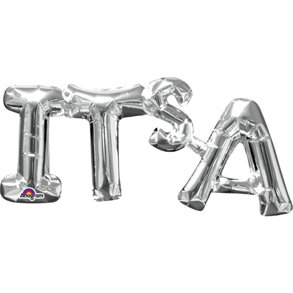 Balloons Foil (Letters - Silver)