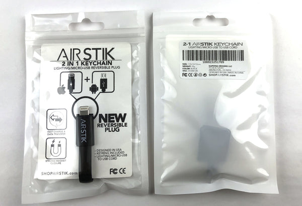 AIRSTIK 2-N-1 LIGHTING AND MICRO-USB KEYCHAIN