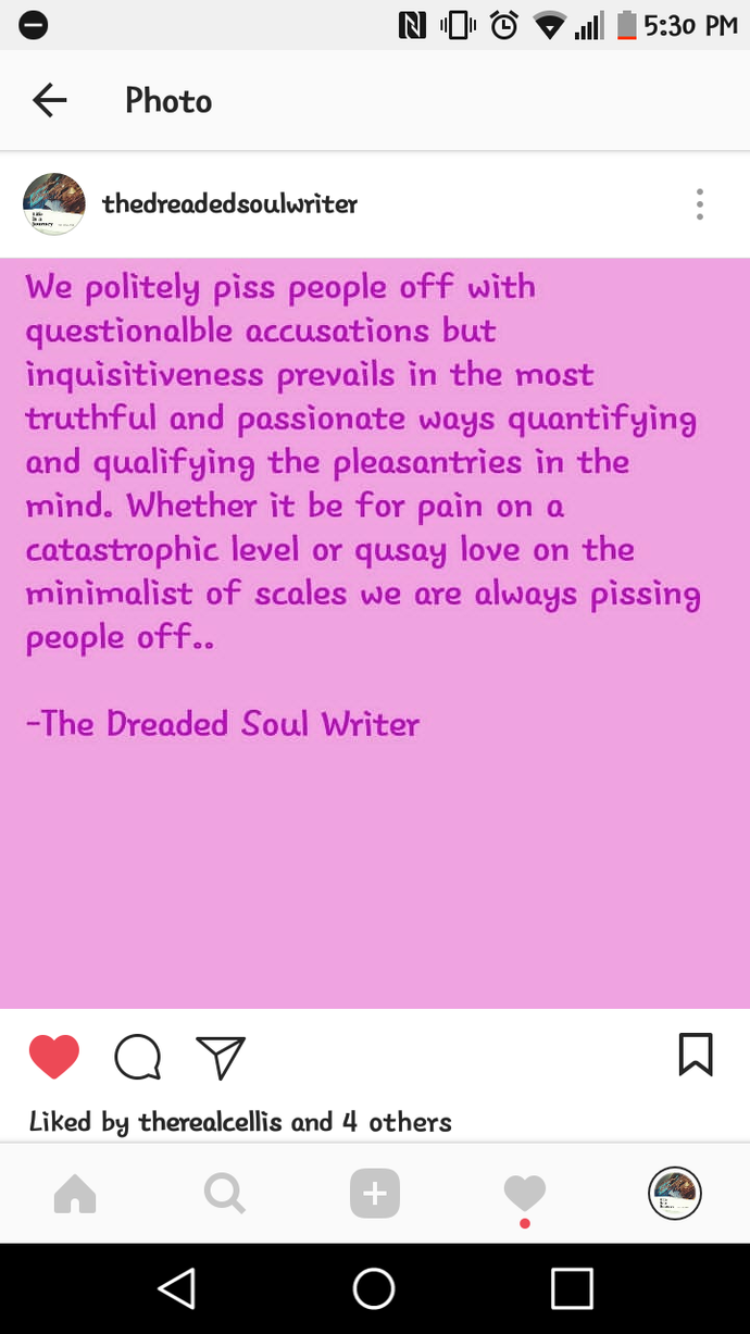 The Dreaded Soul Writer (Poet)