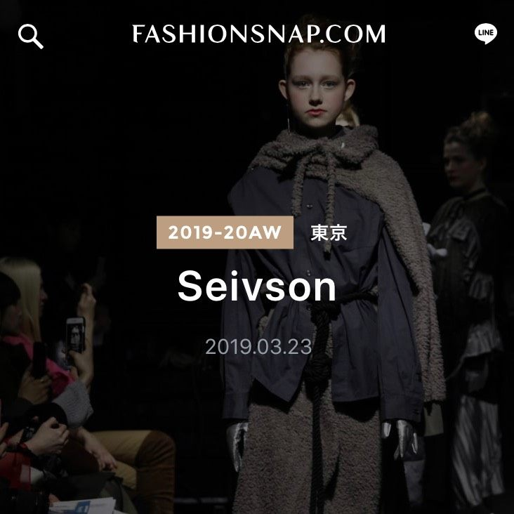 "Seivson 2019 AUTUMN / WINTER ""n / (A) spaceship"" Reported By FASHIONSNAP"