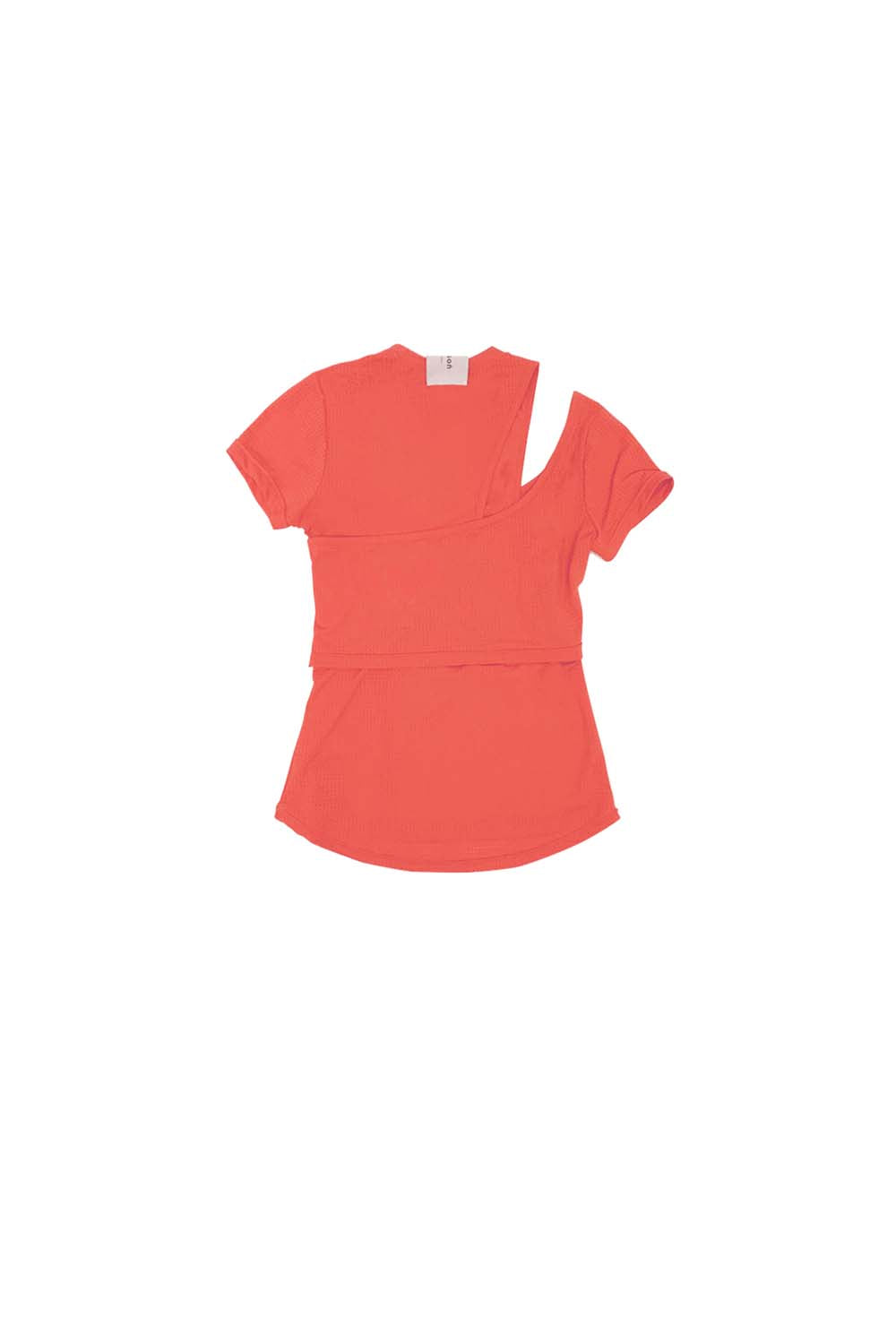 2019SS<br> Unbalanced Tee(Short)<br>(Nude/Orange)